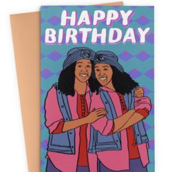Sister Sister Birthday Card
